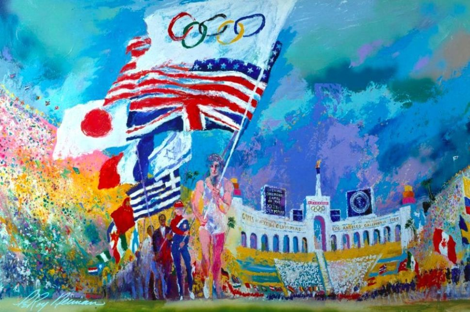 LeRoy Neiman Spent Decades Painting Olympians as the Games' Official Artist