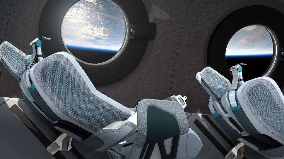 Virgin Galactic Spaceship Cabin Interior.