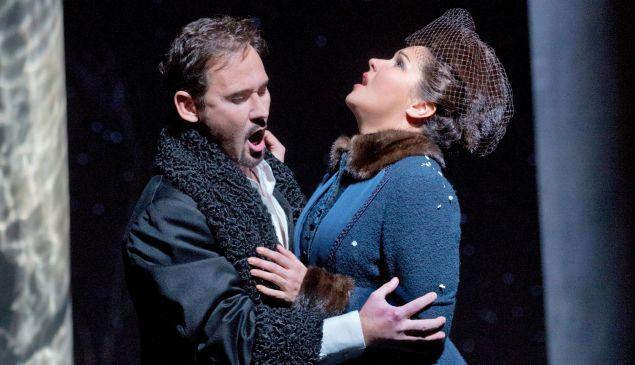 Mariusz Kwiecien and Anna Netrebko in the final scene of the Met's 'Eugene Onegin'.