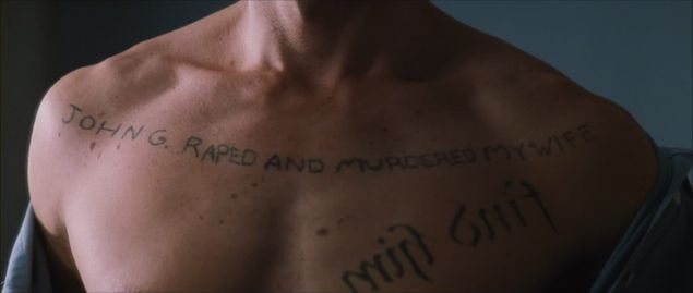 leonard shelby guy pearce tattoos memento