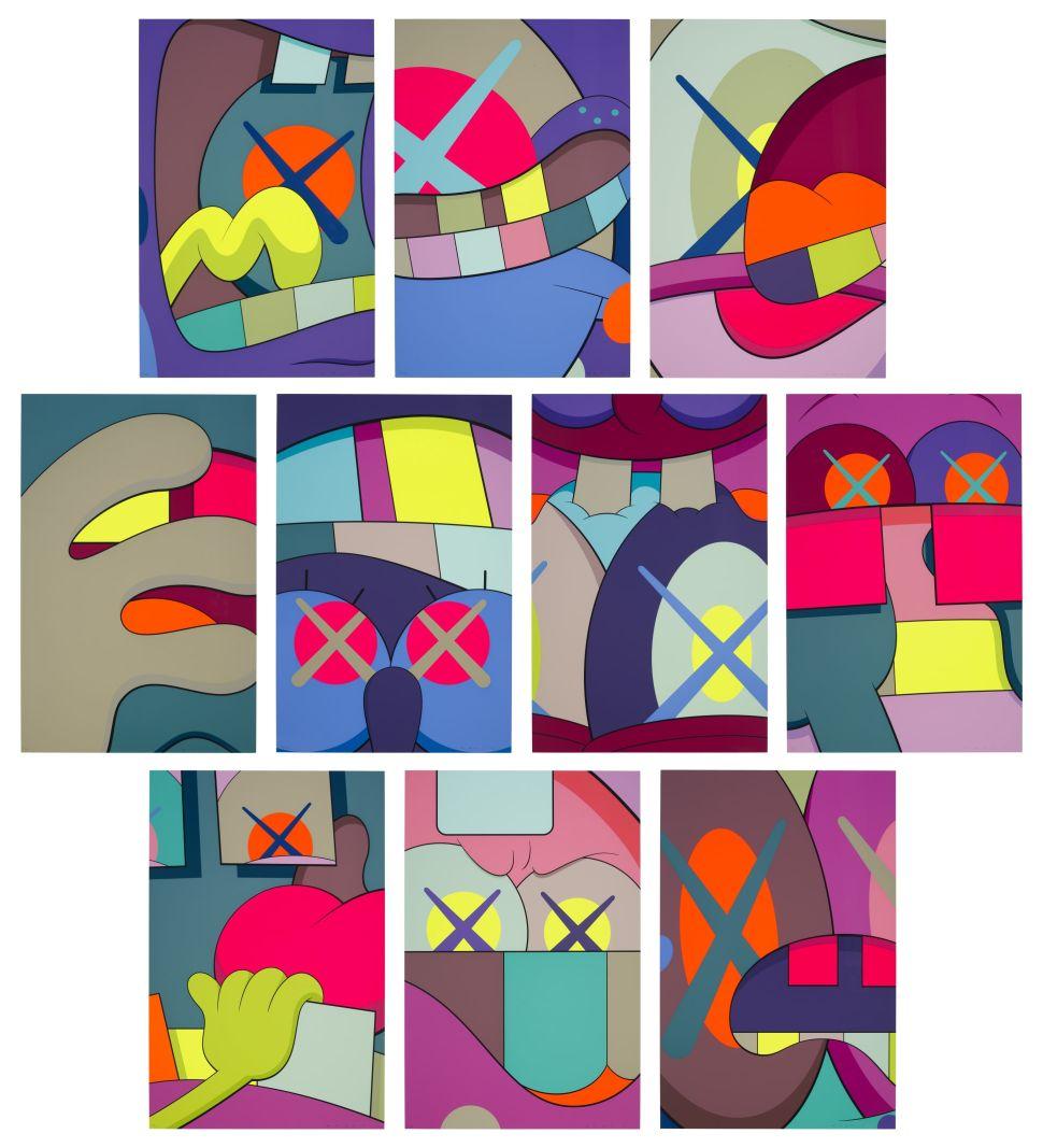 KAWS Cartoon Screenprints on Offer at Christie's Remix Familiar Motifs