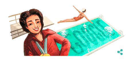 Olympian Vicki Draves, Who Perfected the Swan Dive, Honored in a Google Doodle