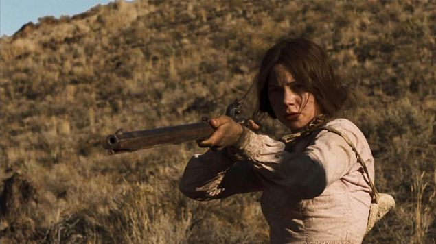 Michelle Williams in Meek's Cutoff, also directed by Kelly Reichardt