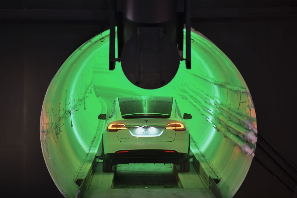 Elon Musk's Tunnel Under Las Vegas for Self-Driving Cars Is Almost Complete