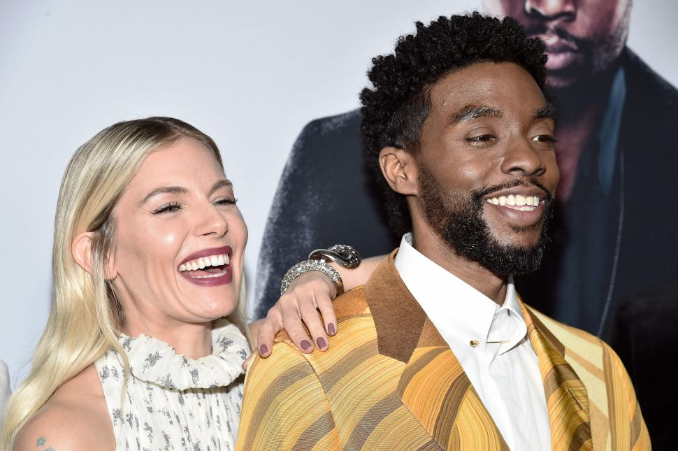 Chadwick Boseman Split His Salary with Sienna Miller to Close the Gender Wage Gap