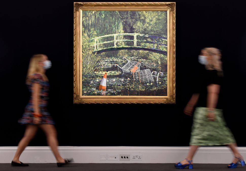 Banksy Was Trying to Make a Political Statement With 'Show Me the Monet.' No One Cared.