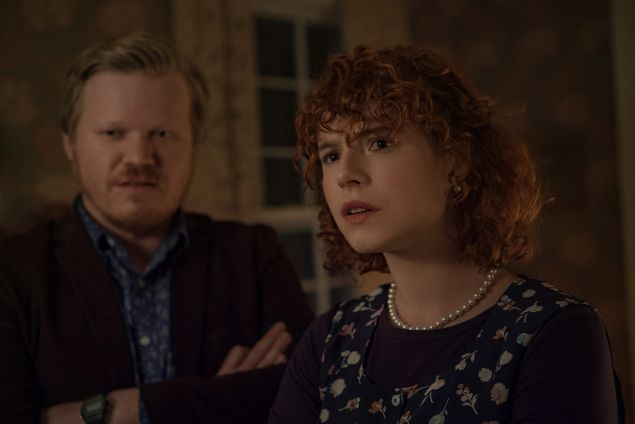 Jesse Plemons as Jake, Jessie Buckley as Young Woman in I'm Thinking of Ending Things, directed by Charlie Kaufman.