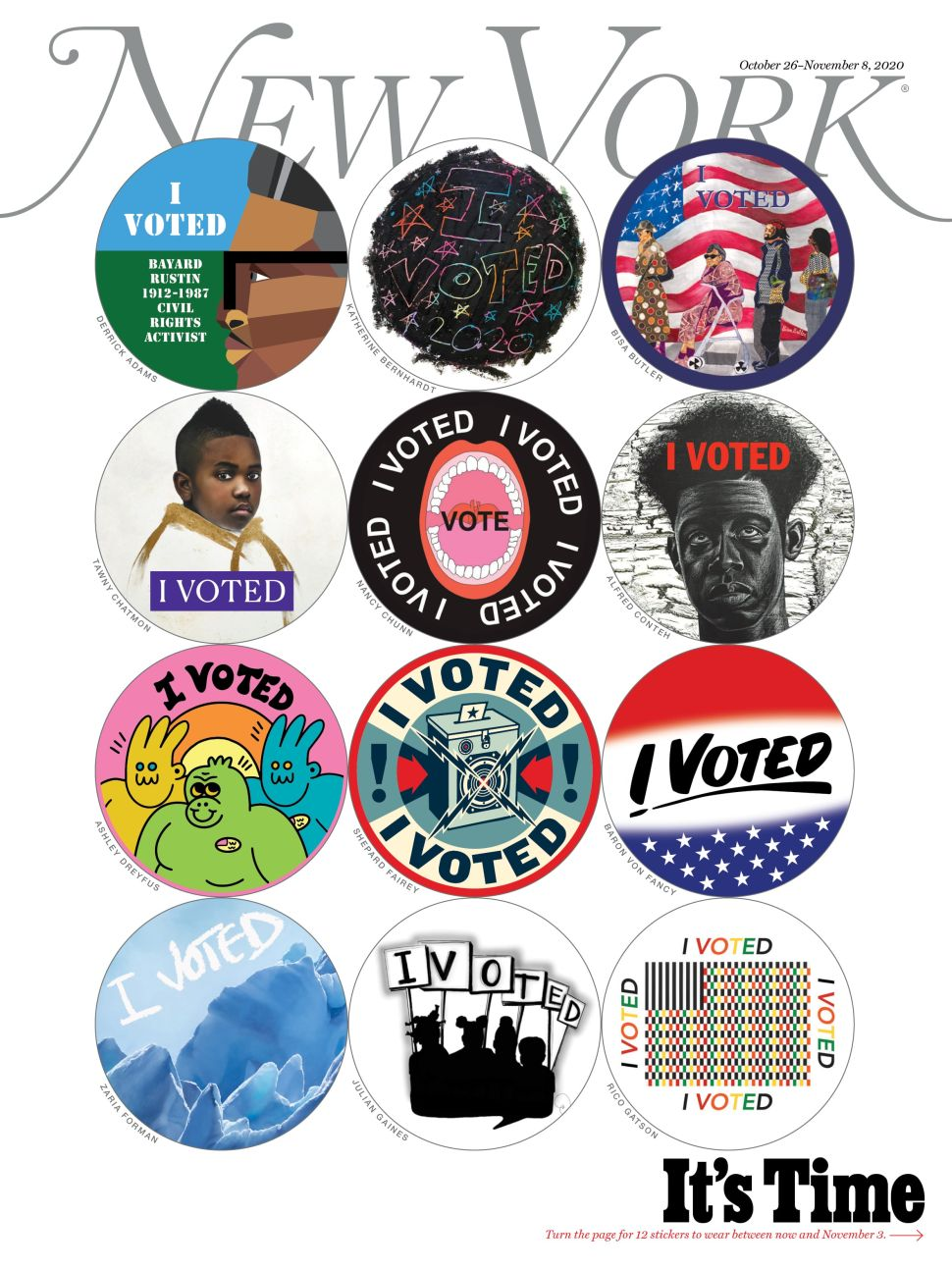 Artists Designed Unique 'I Voted' Stickers for People Voting Absentee