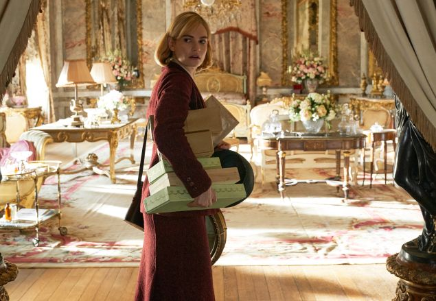 Lily James as Daphne in Rebecca