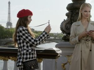 Emily In Paris (L To R) Lily Collins as Emily
