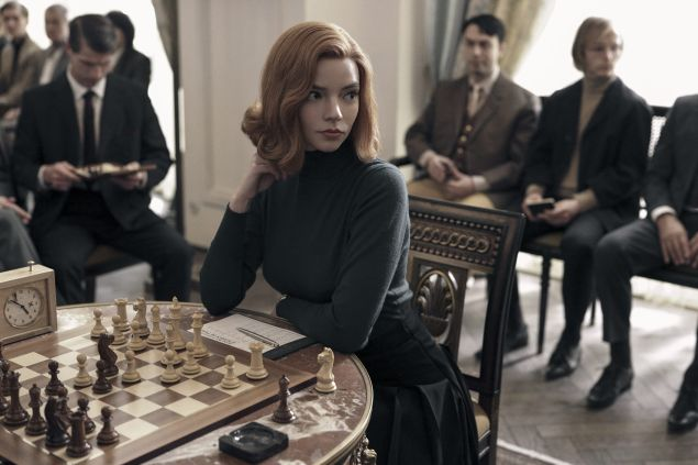 Anya Taylor as Beth Harmon in The Queen's Gambit