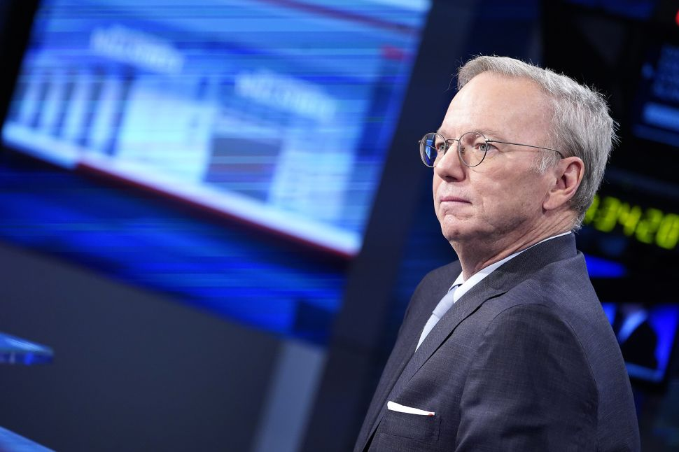 Ex-Google CEO Eric Schmidt, Other Tech Execs' Roles For Biden Draw Outrage