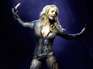 Britney Spears performs at Nassau Coliseum on November 7, 2001.