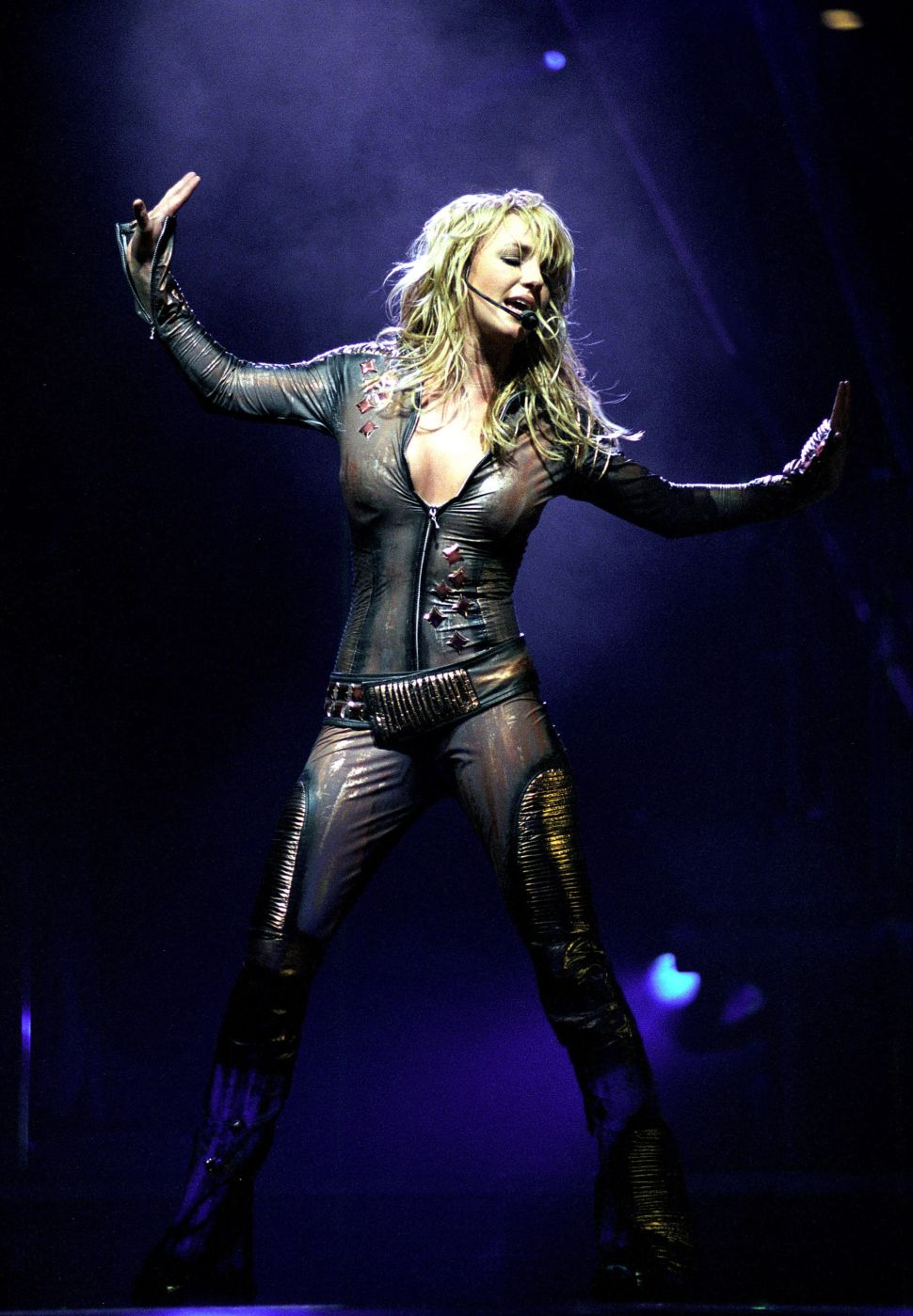 Britney Spears performs at Nassau Coliseum on November 7, 2001