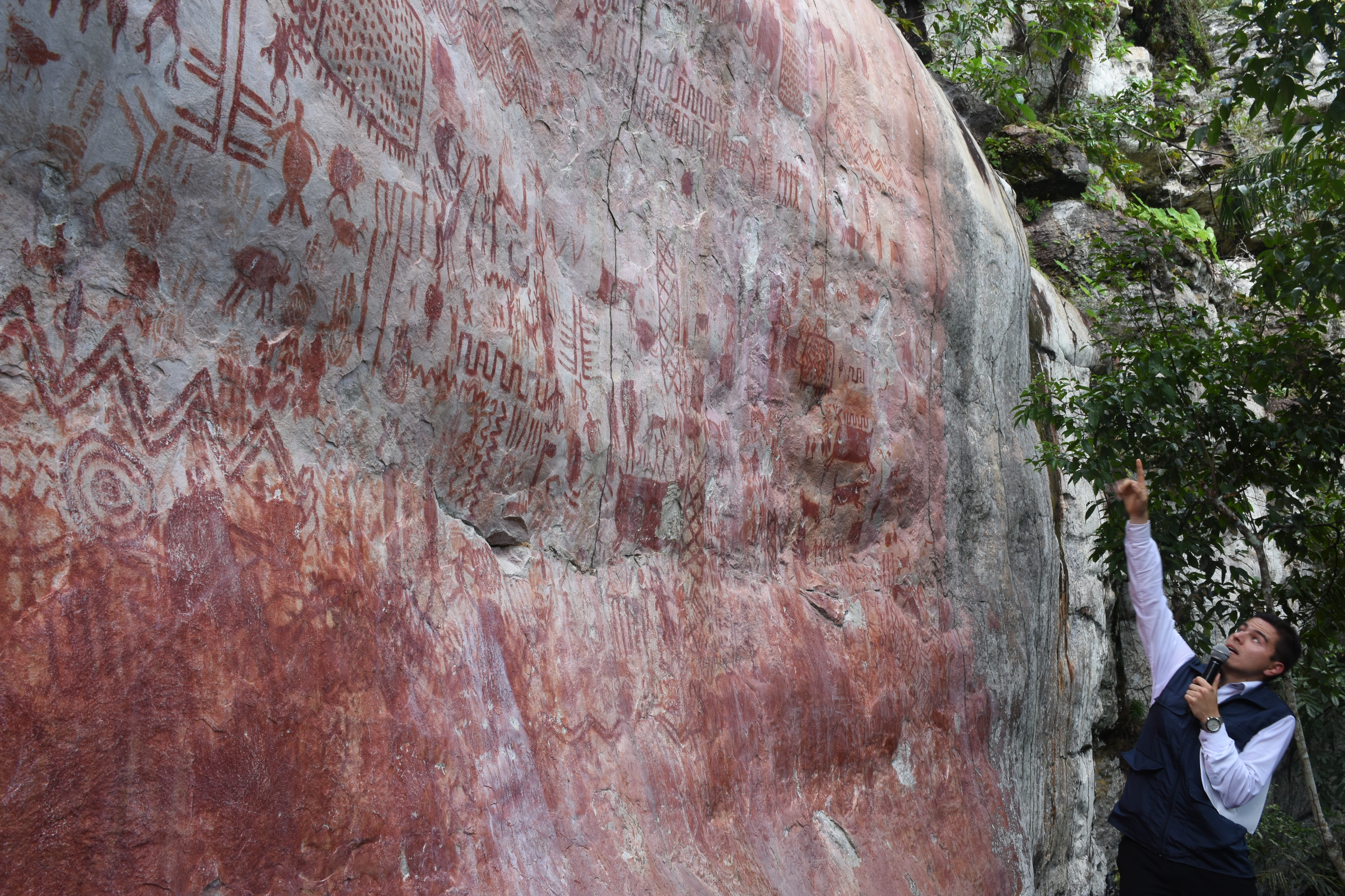 Prehistoric Rock Art Depicting Now-Extinct Animals Discovered in Colombia