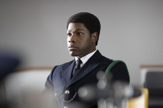 John Boyega as Leroy Logan in Red, White and Blue