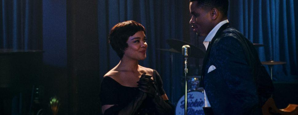 Tessa Thompson as Sylvie Parker and Nnamdi Asomugha as Robert Halloway in Sylvie's Love