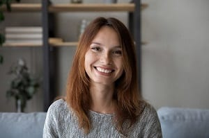 Profile Picture Of Smiling Woman Talk On Video Call