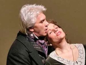 Dmitri Hvorostovsky and Renée Fleming in the Met's 'Eugene Onegin'.