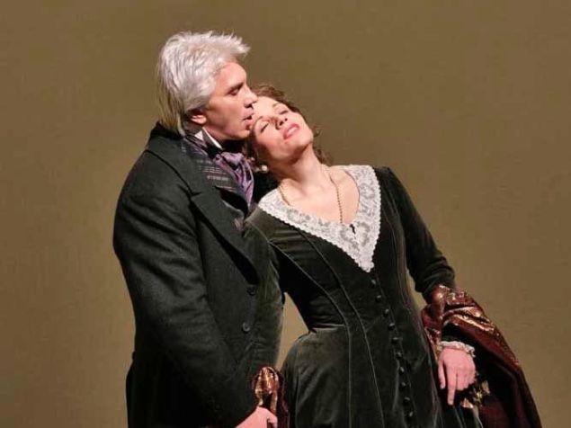 Dmitri Hvorostovsky and Renée Fleming in the Met's 'Eugene Onegin'.