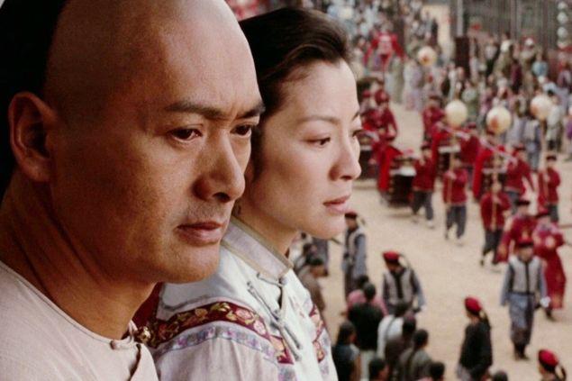 Chow Yun-fat as Li Mu Bai and Michelle Yeoh as Yu Shu Lien in Crouching Tiger, Hidden Dragon