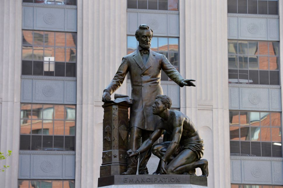 A Statue of a Slave and Lincoln that Frederick Douglass Criticized Has Been Removed