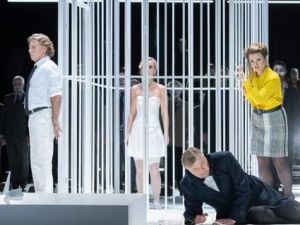The disturbing wedding scene from Wagner's 'Lohengrin' at the Berlin State Opera.