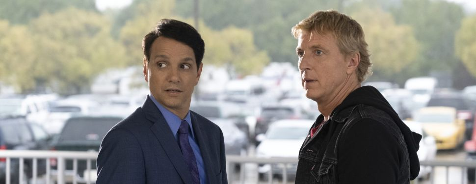 Ralph Macchio as Daniel LaRusso and William Zabka as Johnny Lawrence in Cobra Kai