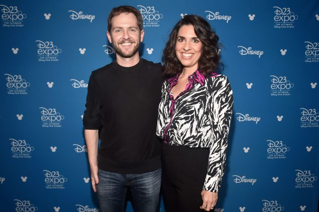 Director Matt Shakman and head writer Jac Schaeffer of WandaVision at Disney's D23 EXPO 2019