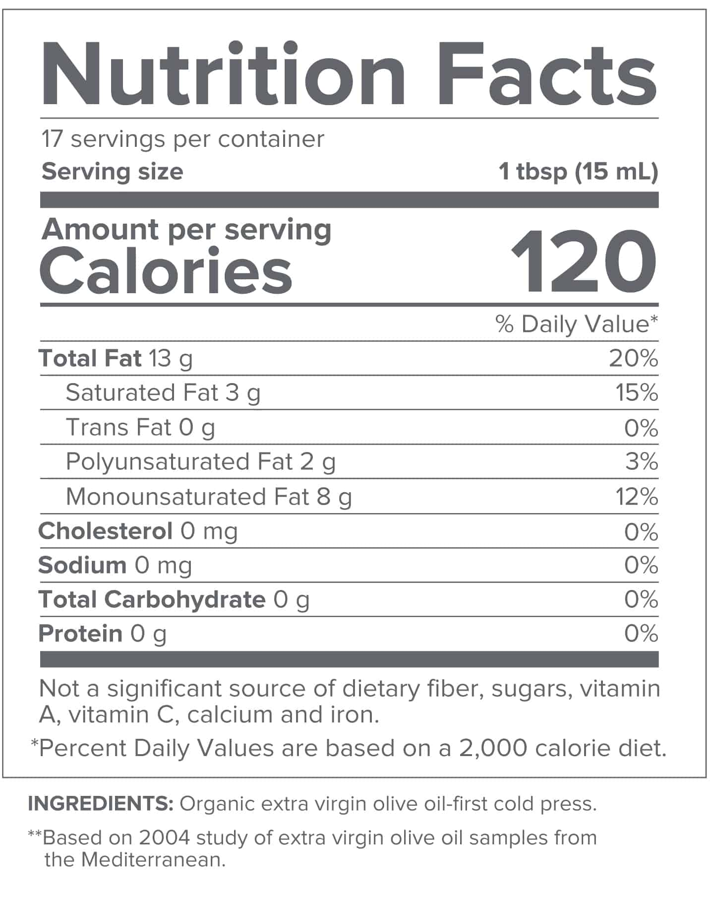 Gundry MD Olive Oil - Nutrition 1