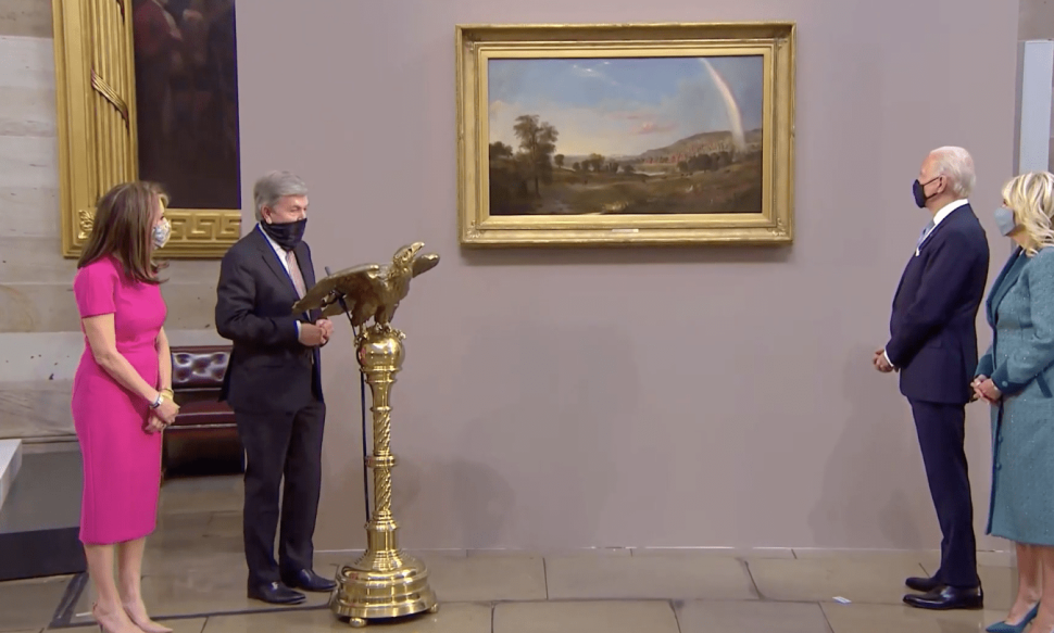 A Civil War-Era Painting by a Black Artist was Gifted to Biden on Inauguration Day