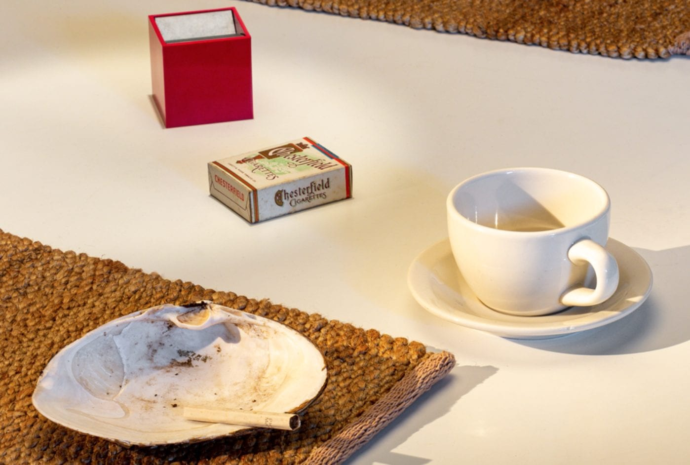 Details of 'The Sculptor and the Ashtray' installation at The Noguchi Museum