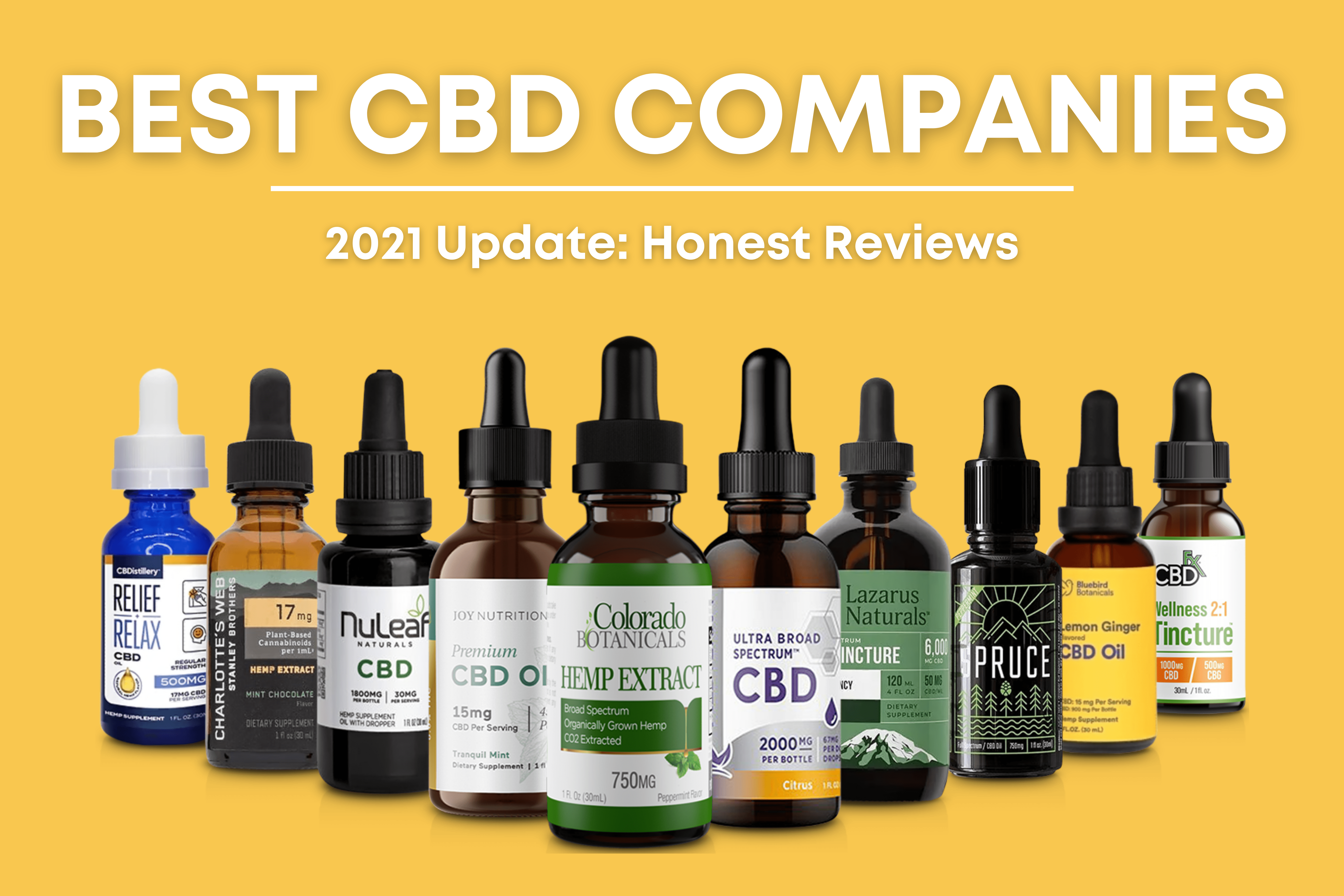 10 Best CBD Companies to Buy From in 2021: Honest Reviews & Guide