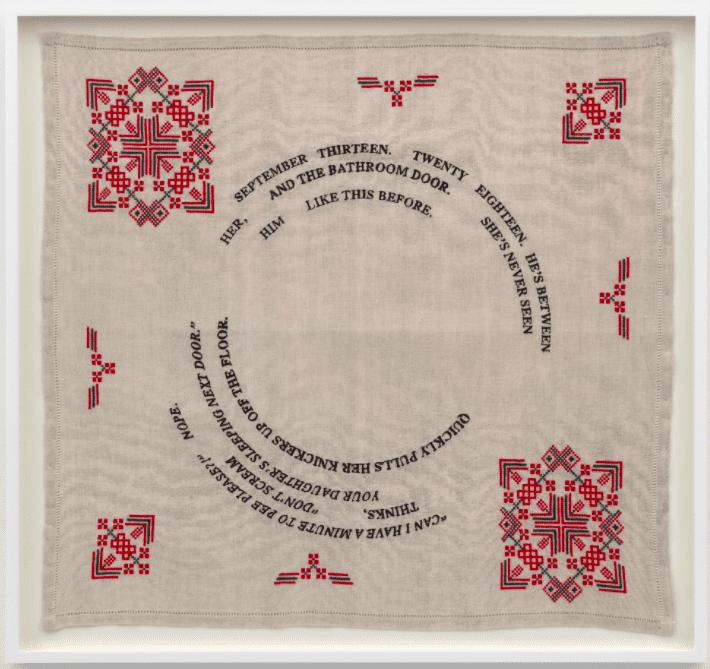Zoë Buckman Embroiders Fabrics Using Threads of Trauma and Joy