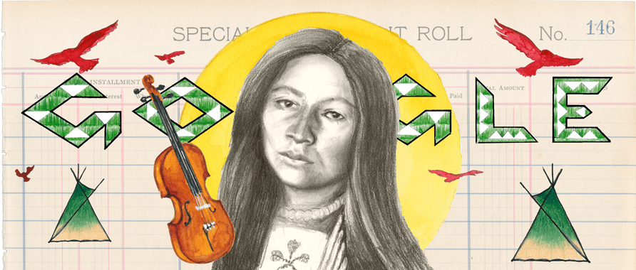 Today's Google Doodle Honors Zitkála-Šá, a Passionate Indigenous Artist and Activist