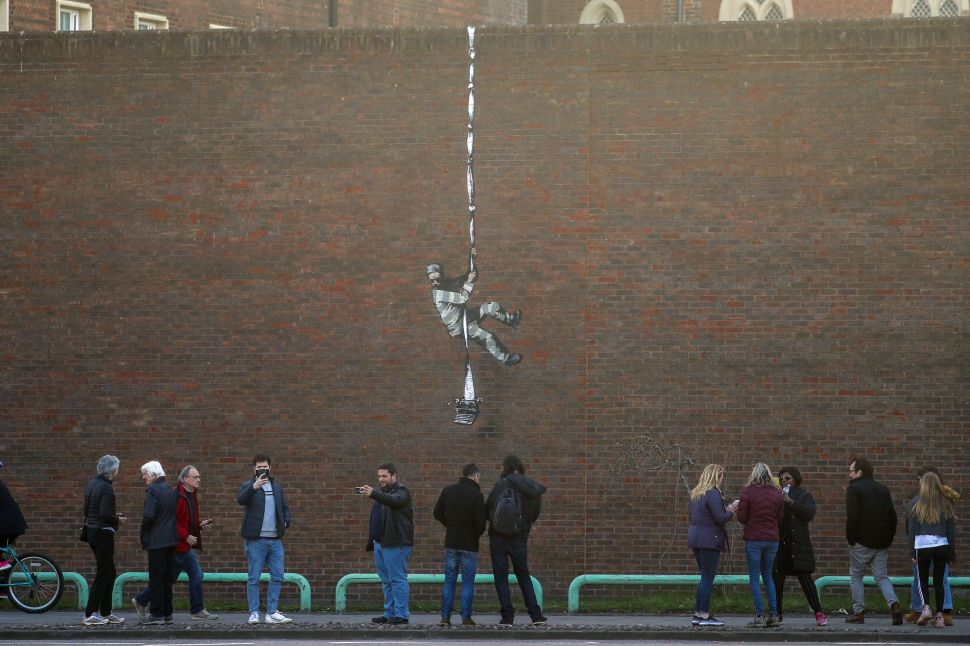 Banksy's Latest Work May Have Appeared on the Side of a U.K. Prison Wall