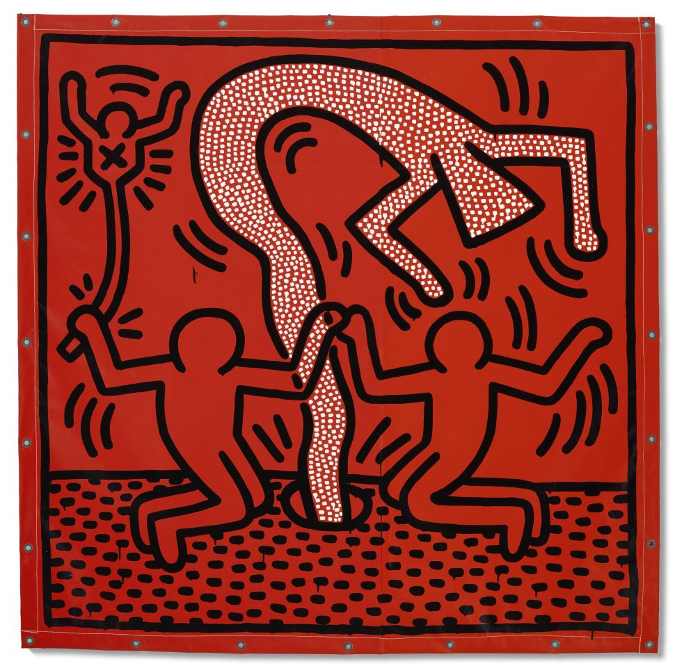 Keith Haring's Genie-Like Tarpaulin Figure is the Star of This Christie's Auction