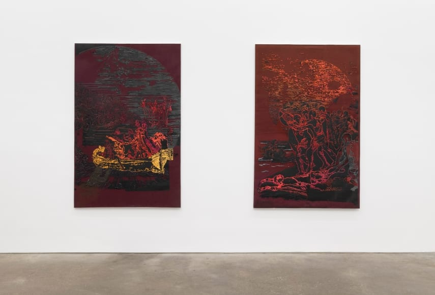 Kathia St. Hilaire and Austin Martin White Flourish at Derek Eller Gallery