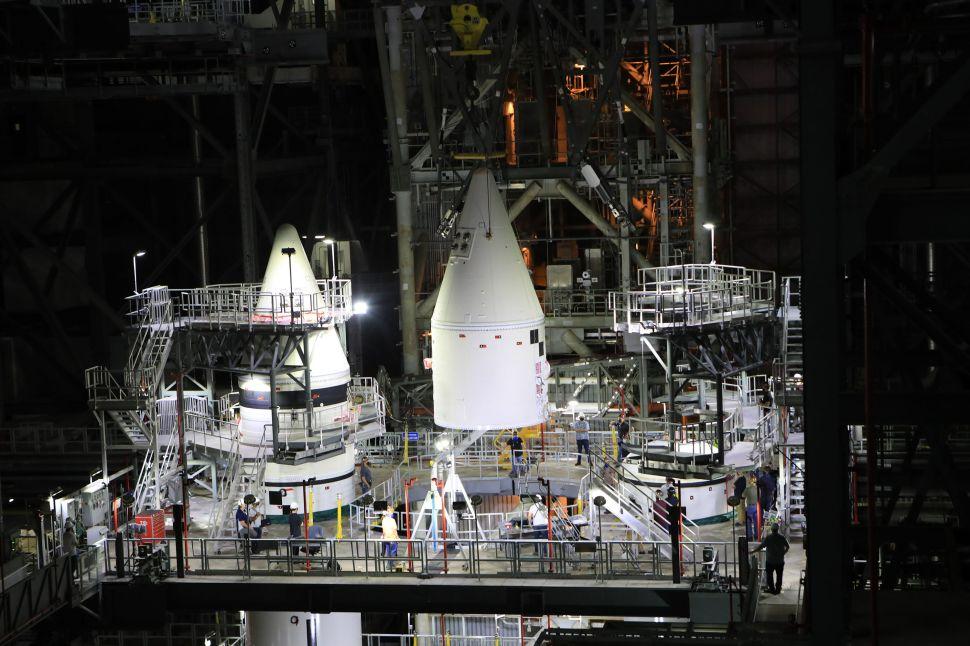 NASA Successfully Fires Up Giant Artemis Lunar Rocket SLS In Final Test