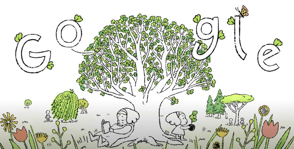 Today's Earth Day Google Doodle Emphasizes the Importance of Planting Trees