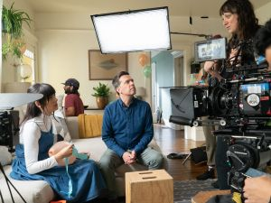 Nikole Beckwith directs Patti Harrison and Ed Helms in Together Together
