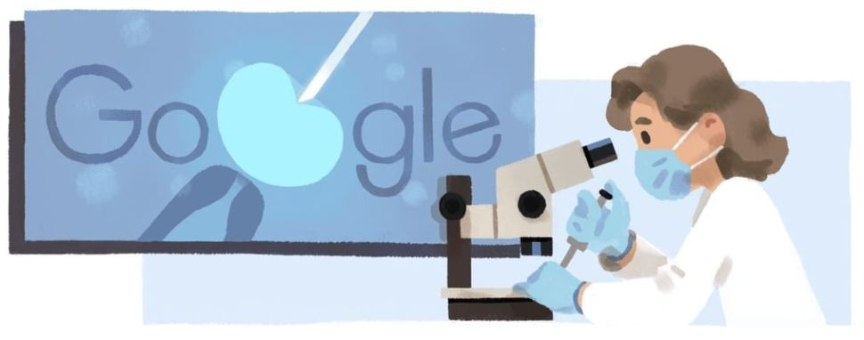 Today's Google Doodle Honors Reproductive Biologist and IVF Researcher Anne McLaren