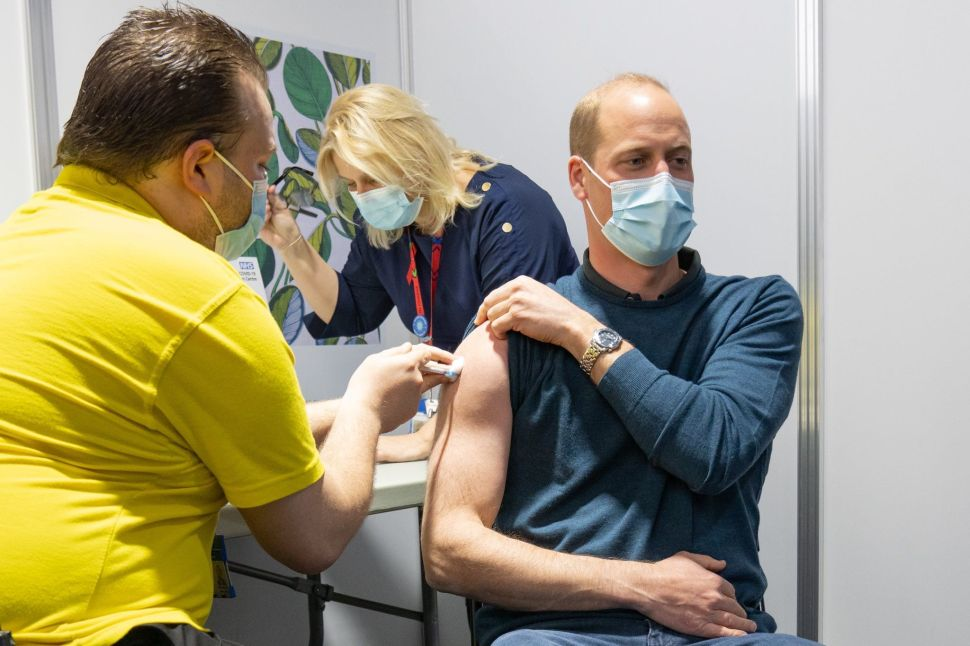 Prince William Received His First Dose of the COVID-19 Vaccine