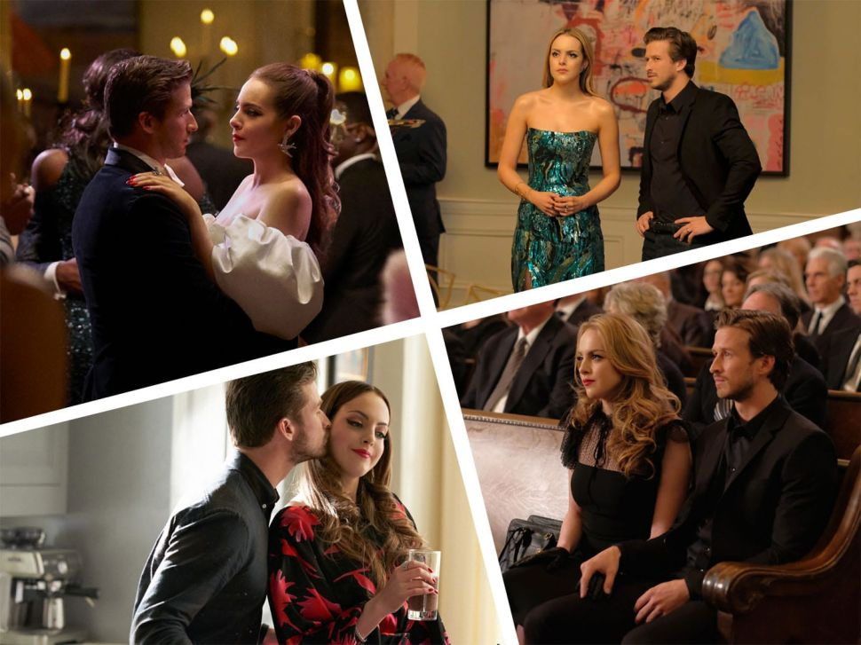 Liz Gillies and Adam Huber star as a Fallon Carrington and Liam Ridley on The CW's Dynasty