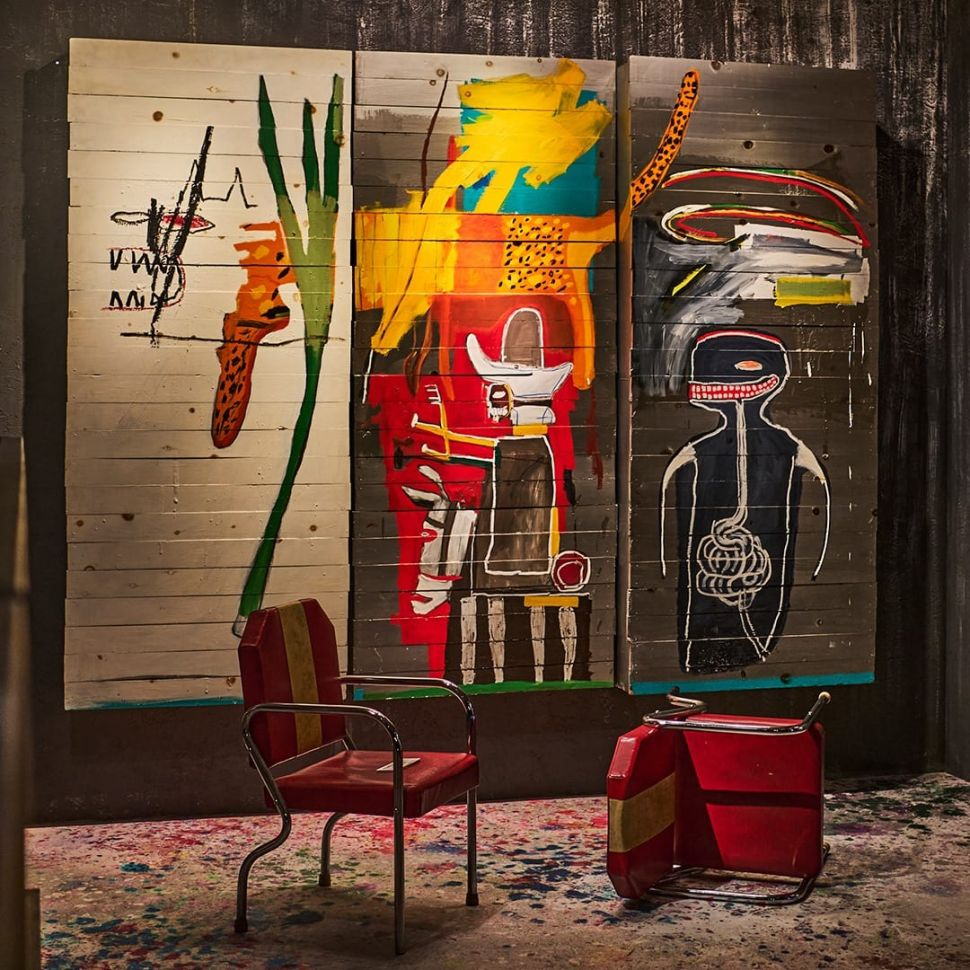 A Basquiat Triptych Made at the Height of His Powers Just Sold for $37.2 Million