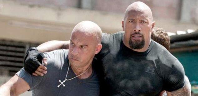 Fast and Furious 9 Vin Diesel Dwayne Johnson Rock Feud