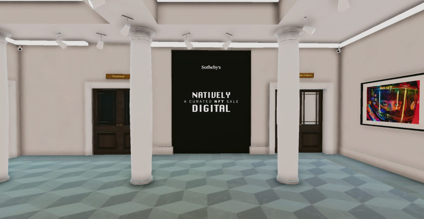 NFTs: The Center of Attention at Sotheby's Virtual Decentraland Gallery