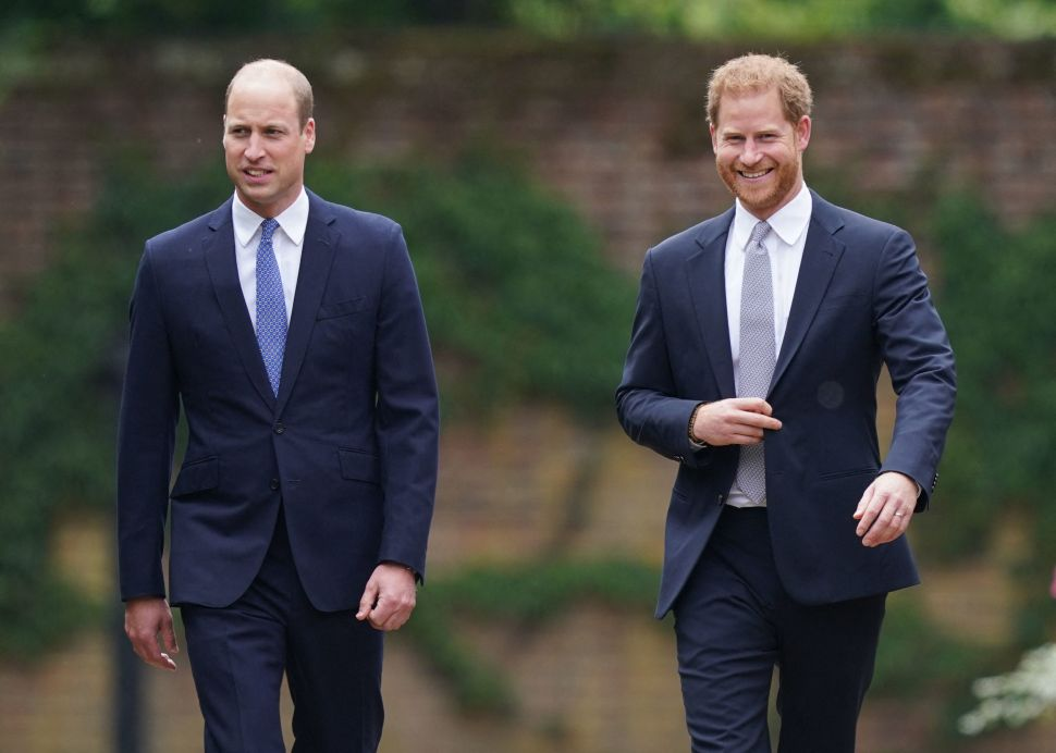 Prince William and Prince Harry Finally Reunited for Princess Diana's Statue Unveiling