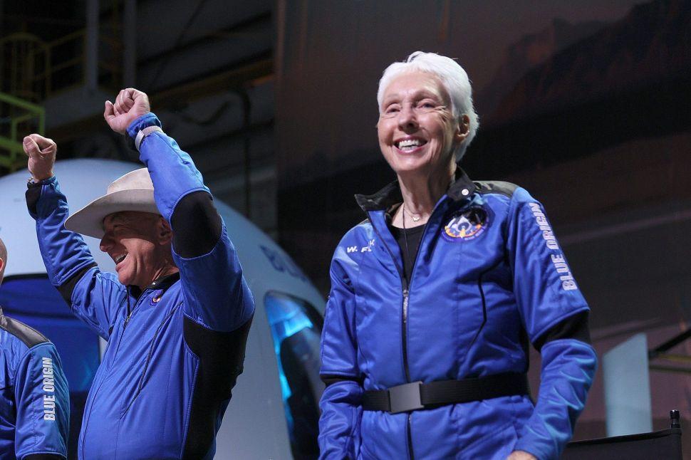 Wally Funk Reviews Blue Origin's Maiden Crewed Flight With Jeff Bezos