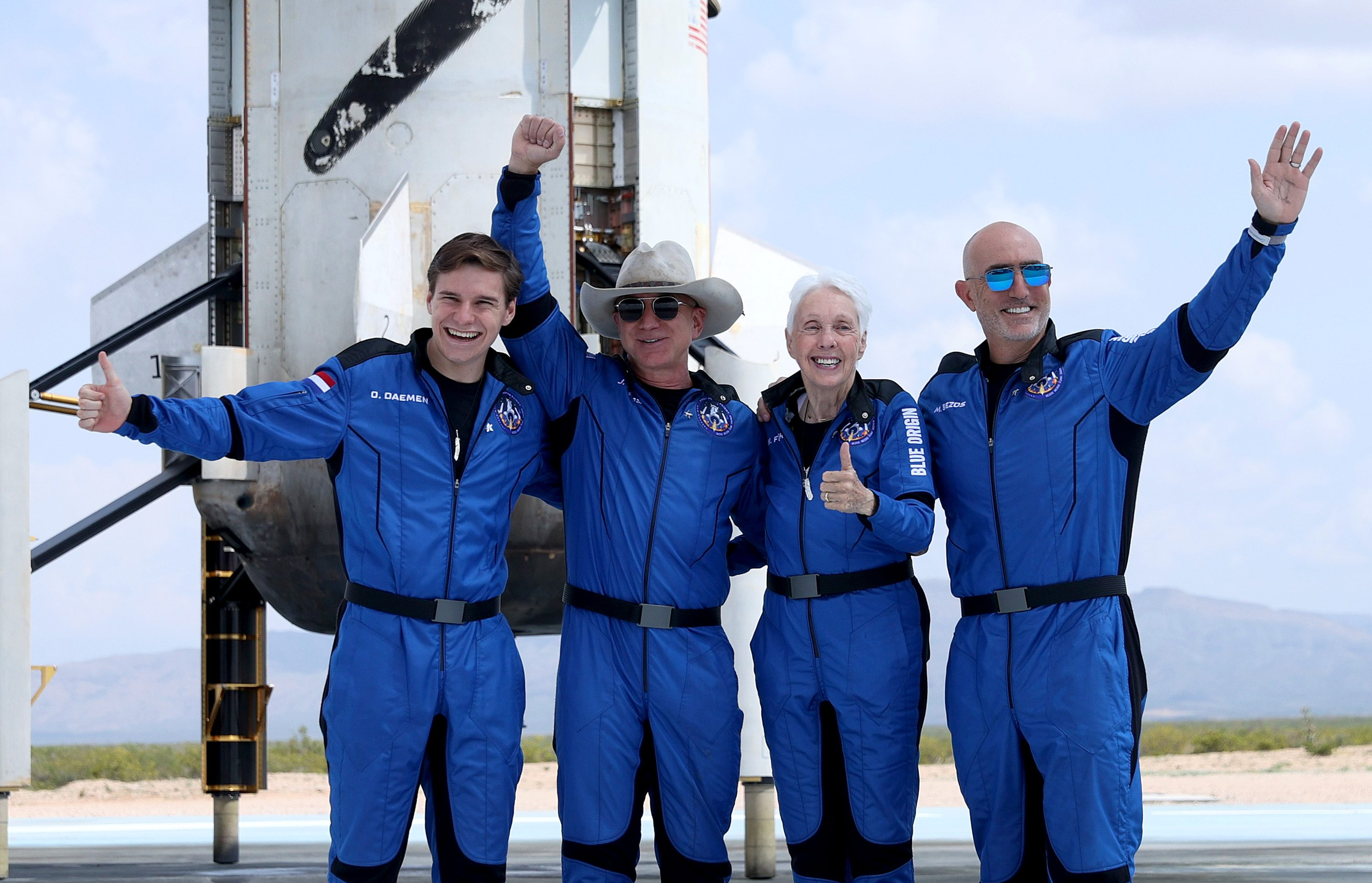 Jeff Bezos' Blue Origin New Shepard Space Vehicle Flies The Billionaire And Other Passengers To Space